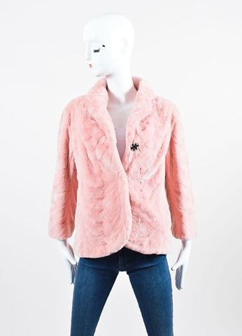 Tuleh Pink Mink Three Quarter Sleeve Jacket Frontview