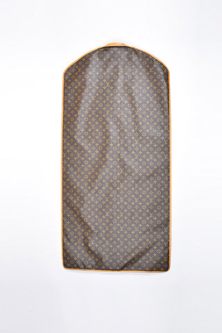 Brown Louis Vuitton Coated Canvas Monogram Garment Cover Bag Back