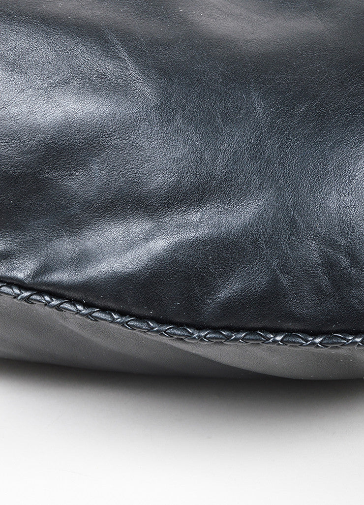 "The Row Black Calfskin Leather Oversized ""Sling 15"" Bag Detail"