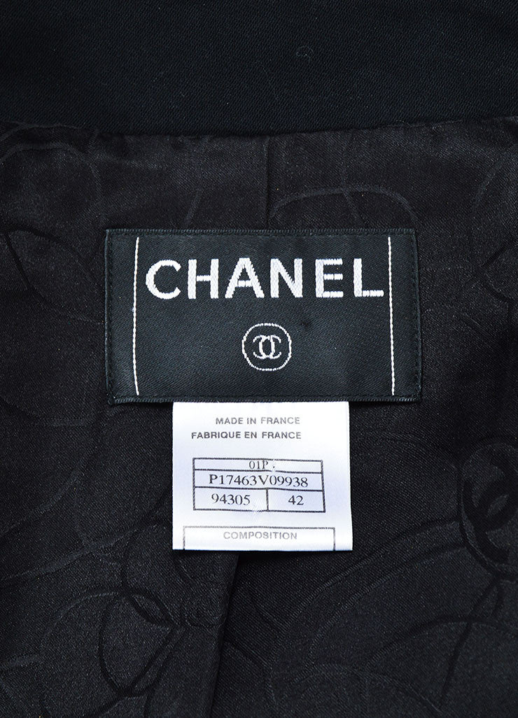 Black Chanel Double Breasted 'CC' Button Jacket Brand