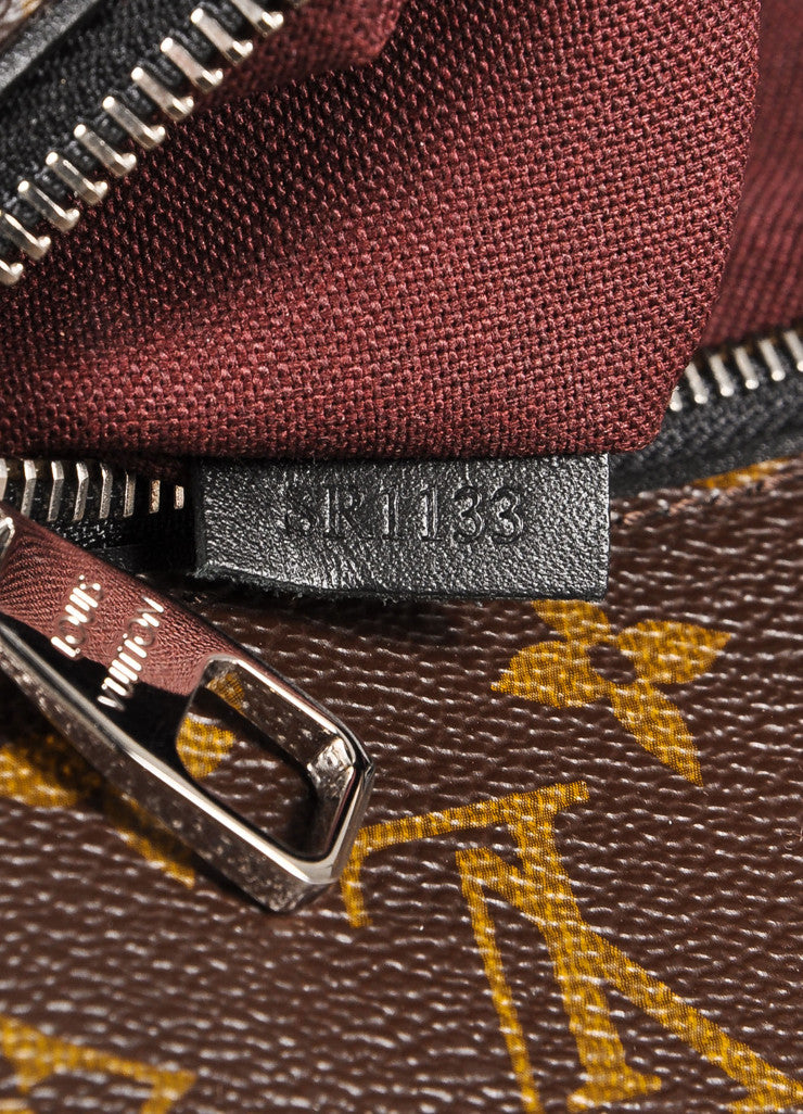 "Louis Vuitton Brown and Black Monogram Macassar Canvas and Leather ""Palk"" Backpack Serial"