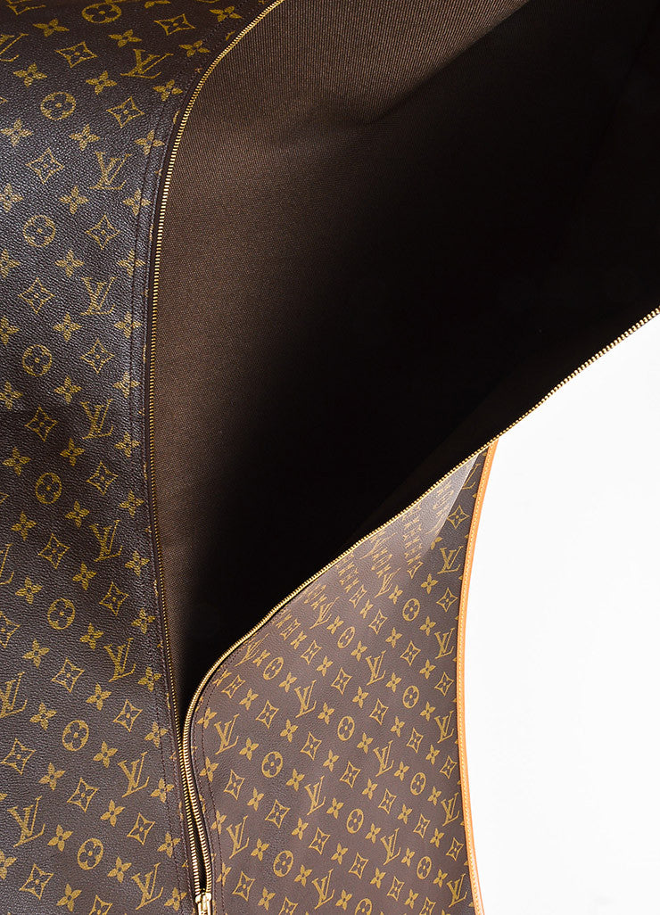 Brown Louis Vuitton Coated Canvas Monogram Garment Cover Bag Detail