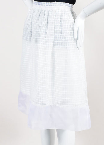 "White Elizabeth and James Square Embroidered Full ""Avenue"" Skirt Sideview"