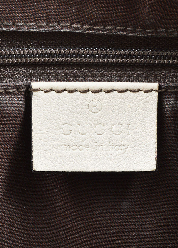 "Gucci Cream and Brown Canvas and Leather ""GG"" Monogram ""Guccissima"" Shoulder Bag Brand"