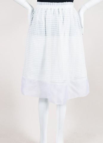 "White Elizabeth and James Square Embroidered Full ""Avenue"" Skirt Frontview"