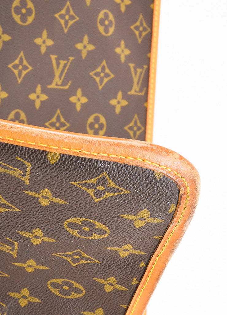 Brown Louis Vuitton Coated Canvas Monogram Garment Cover Bag Detail 3