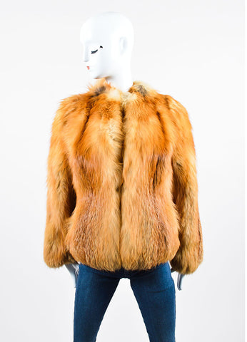Valentine Furs Red Fox Knit Scarf and Coat Front 2