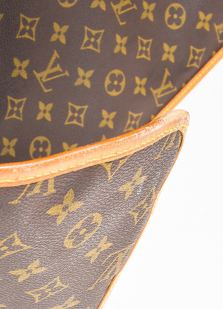Brown Louis Vuitton Coated Canvas Monogram Garment Cover Bag Detail 4