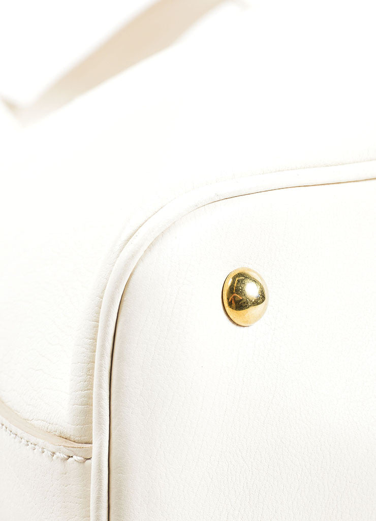 "Yves Saint Laurent Cream ""Muse"" Shoulder Bag Detail"