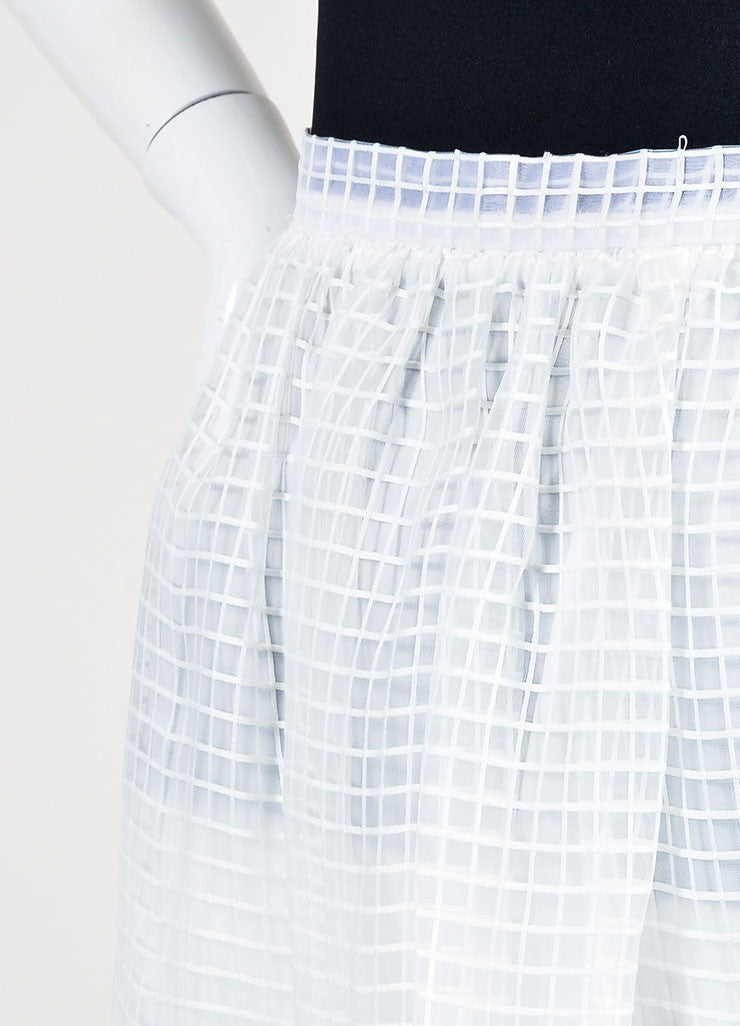 "White Elizabeth and James Square Embroidered Full ""Avenue"" Skirt Detail"