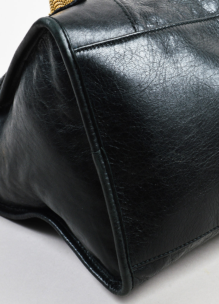 "Black Balenciaga Distressed Lambskin Leather ""Giant 21 Part Time"" Bag Detail 2"
