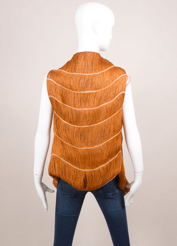Marcia Ganem New With Tags Burnt Orange Cord Vest Backview