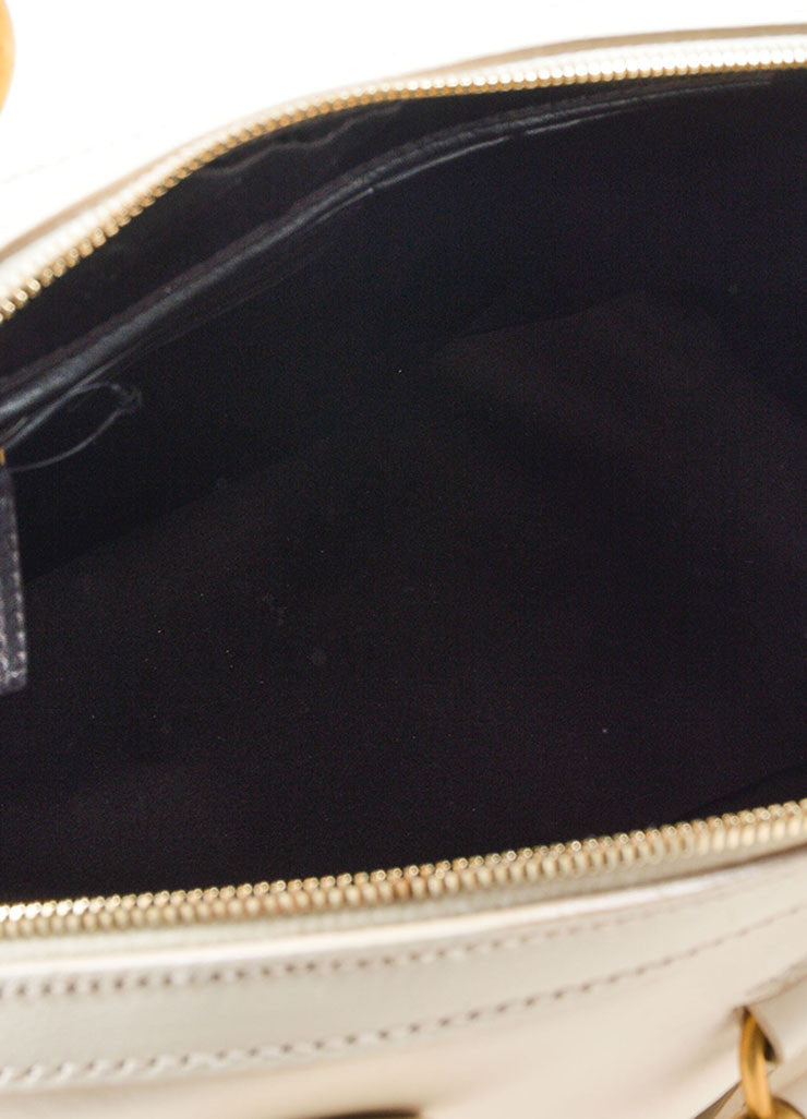 "Yves Saint Laurent Cream ""Muse"" Shoulder Bag Interior"