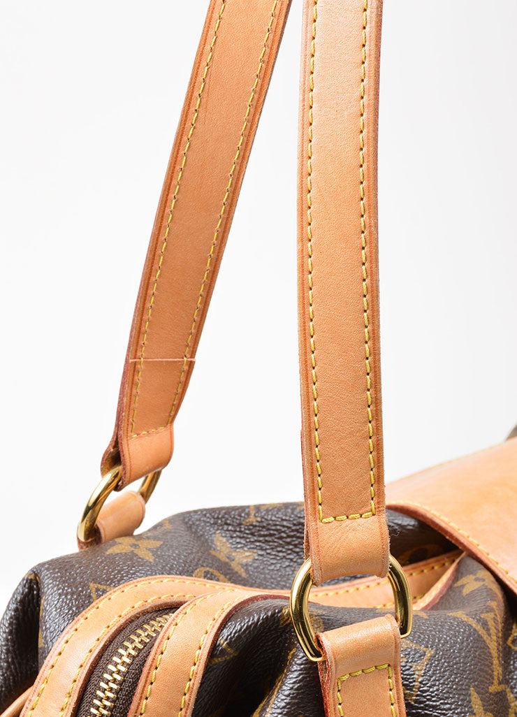 "Brown and Tan Louis Vuitton Coated Canvas and Leather Monogram ""Stresa GM"" Bag Detail 2"