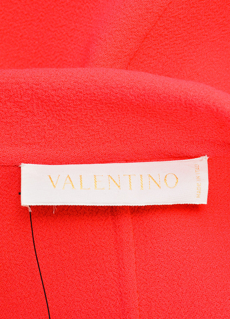 Valentino Coral Pink Cream Wool Button Up Long Overcoat  brand