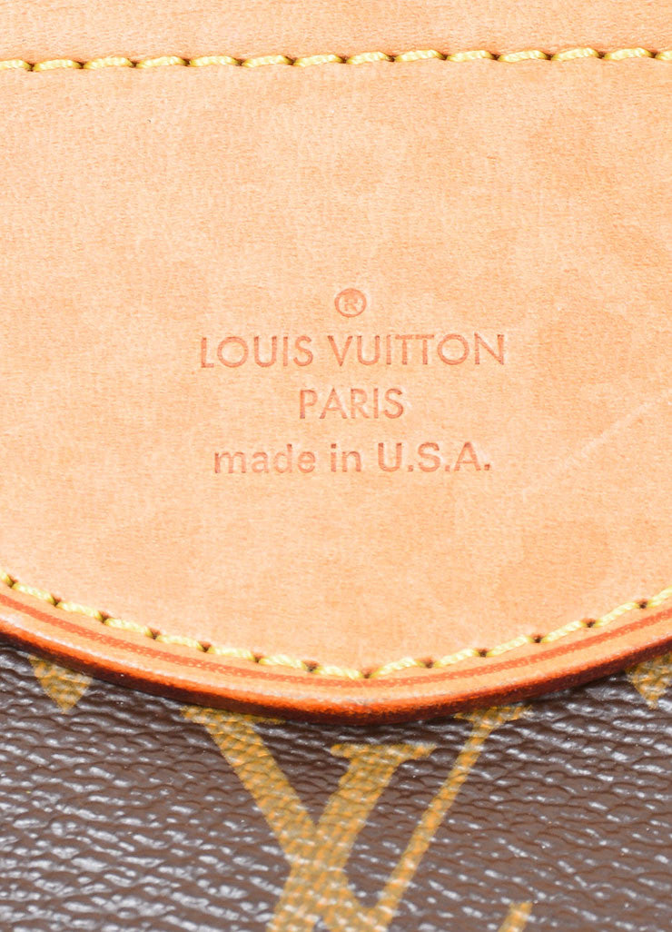 "Brown and Tan Louis Vuitton Coated Canvas and Leather Monogram ""Stresa GM"" Bag Brand"