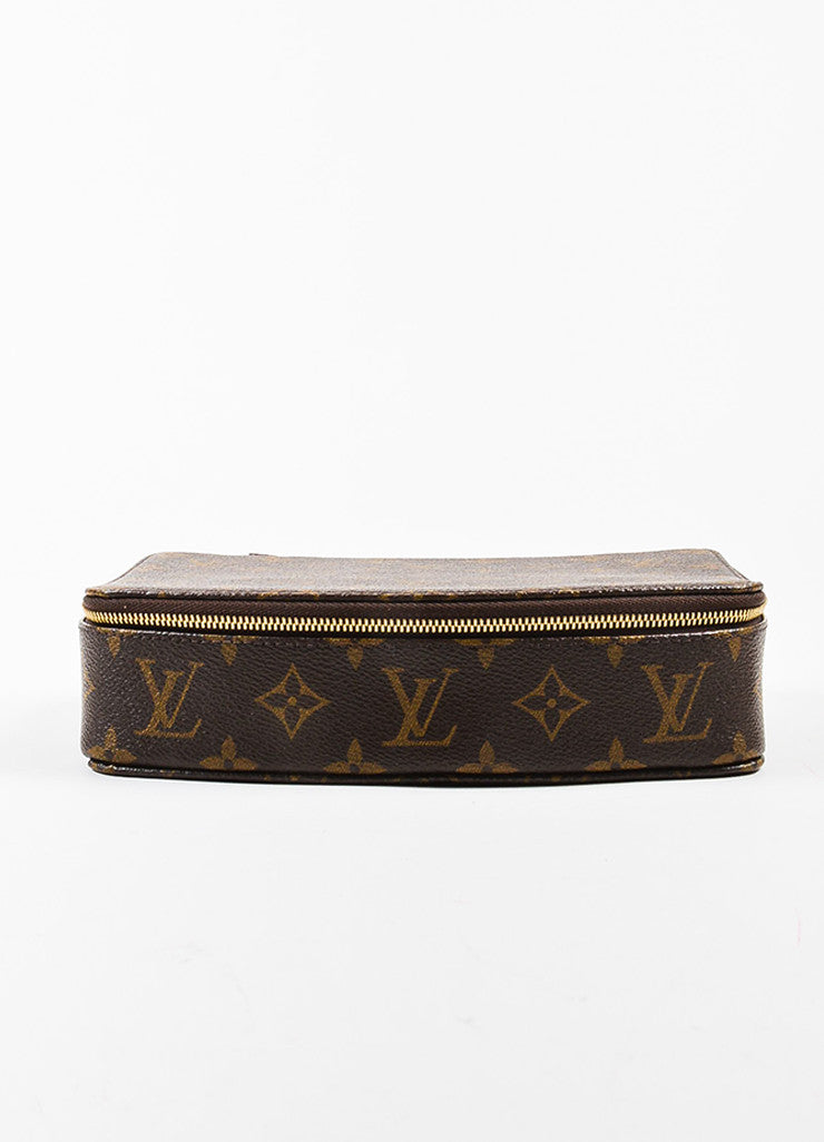 "Louis Vuitton Brown Coated Canvas Monogram ""Monte Carlo Jewelry Box'' Frontview"
