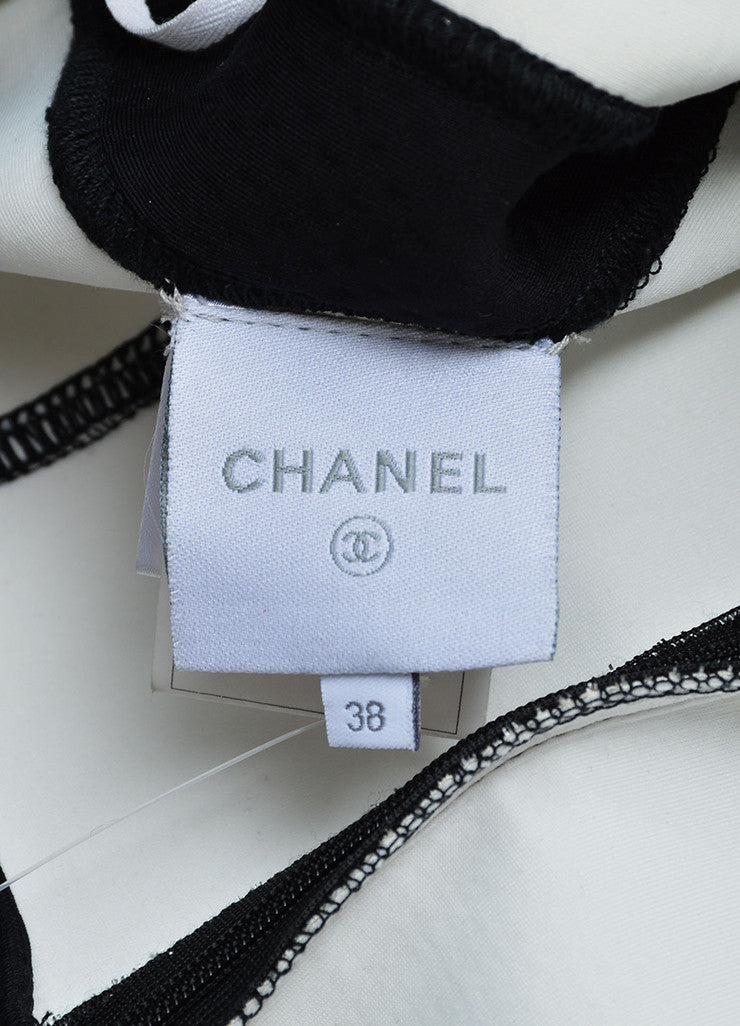 Chanel Silver and Black Metallic Woven Mesh Sporty Sleeveless Dress Brand