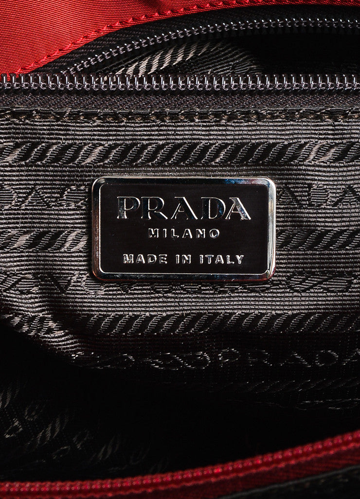 Red Prada Tessuto Nylon Three Compartment Tote Bag Brand