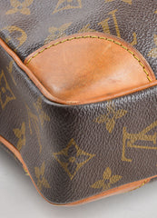 "Louis Vuitton Brown Coated Canvas and Leather ""Porte-Documents Voyage"" Briefcase Detail"