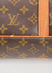 "Louis Vuitton Brown Coated Canvas and Leather ""Porte-Documents Voyage"" Briefcase Detail 2"