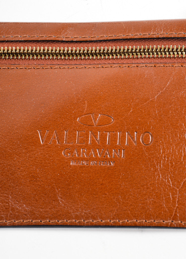 Valentino Brown Flower Embellished Tote Bag Brand