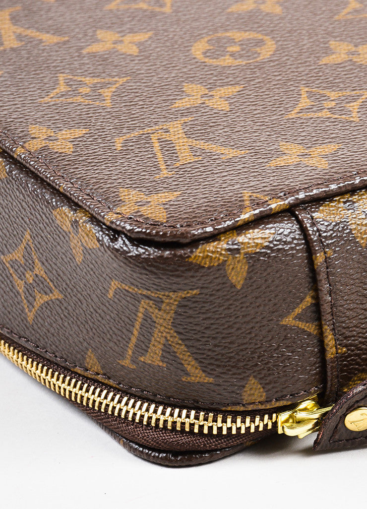 "Louis Vuitton Brown Coated Canvas Monogram ""Monte Carlo Jewelry Box'' Detail"