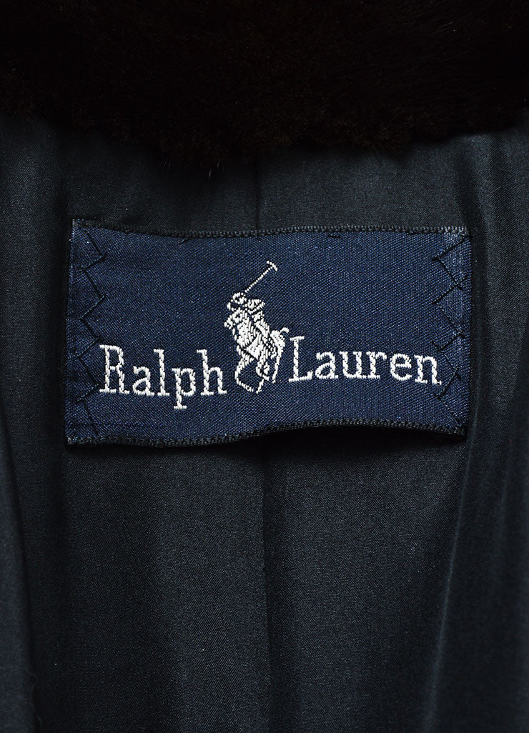 Brown Ralph Lauren Mink Fur Long Coat Brand