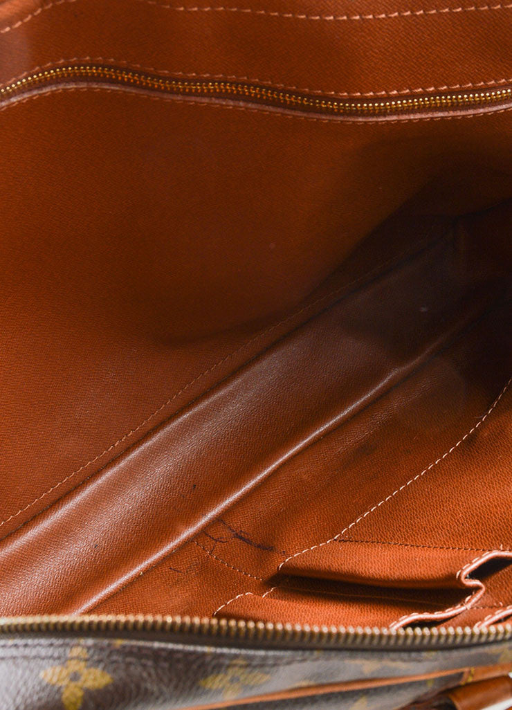 "Louis Vuitton Brown Coated Canvas and Leather ""Porte-Documents Voyage"" Briefcase Detail 4"