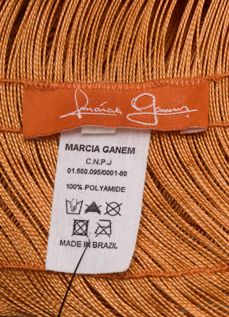 Marcia Ganem New With Tags Burnt Orange Cord Lace Vest Brand