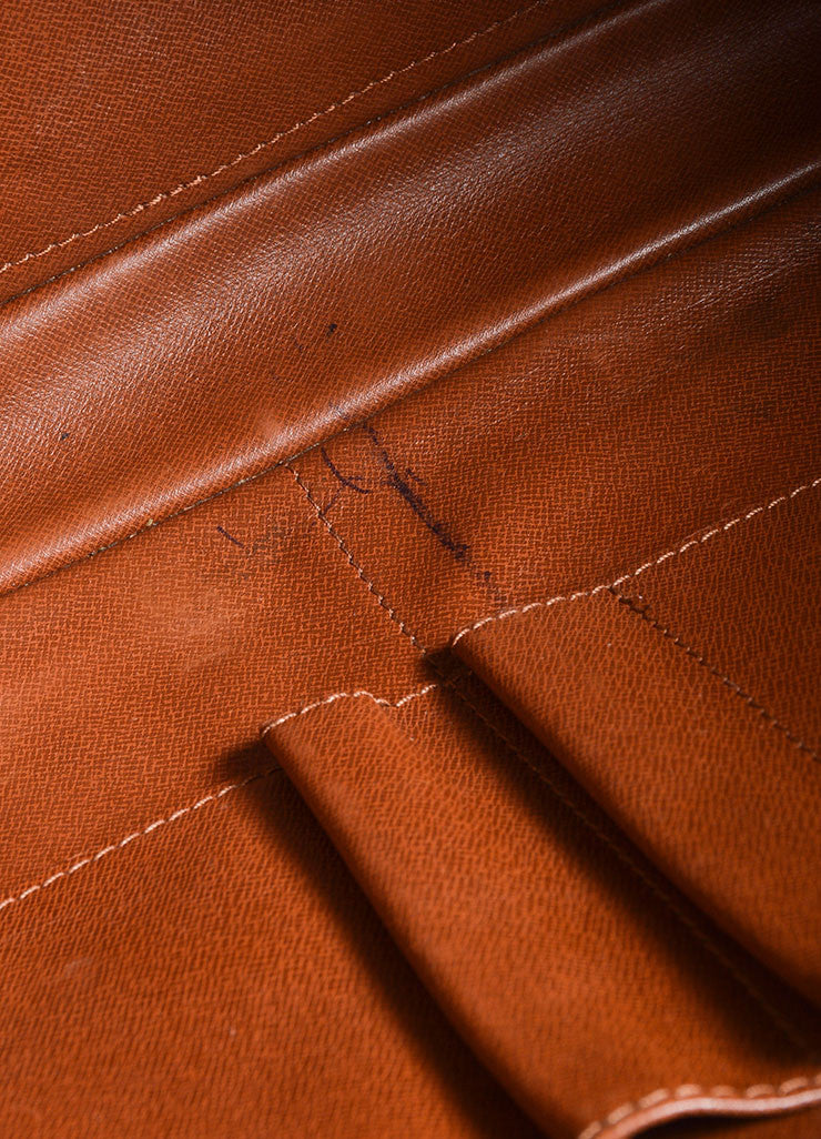 "Louis Vuitton Brown Coated Canvas and Leather ""Porte-Documents Voyage"" Briefcase Detail 5"