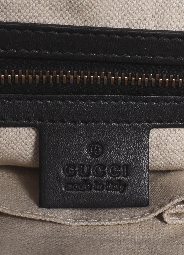 "Gucci Black Pony Hair Leather Tassel ""GG"" Satchel Bag Brand"