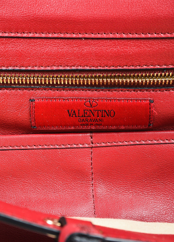 "Valentino Red Calfskin Leather ""Medium Rockstud Tote"" Bag Brand"