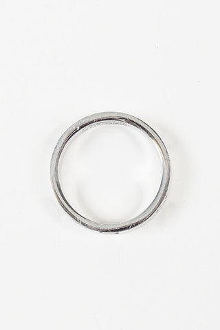 "18K White Gold Cartier ""Love Wedding Band"" Ring Topview"