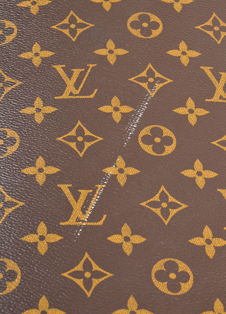 "Louis Vuitton Brown Coated Canvas Monogram ""Pegase Legere 45"" Rolling Suitcase Detail 2"