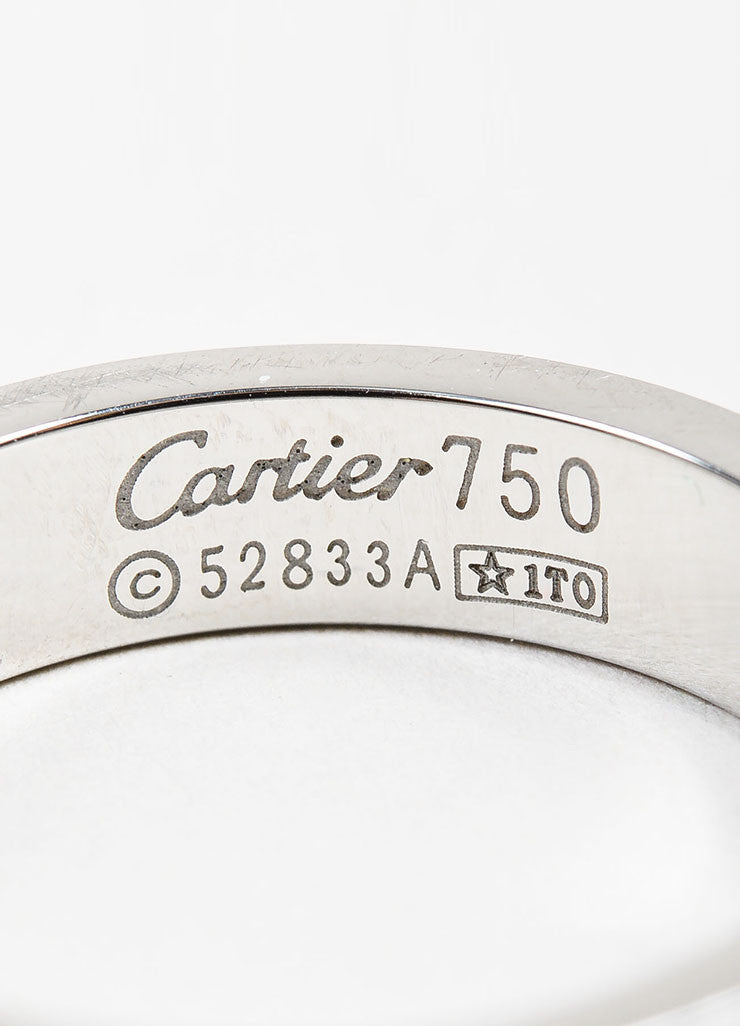 "18K White Gold Cartier ""Love Wedding Band"" Ring Brand"