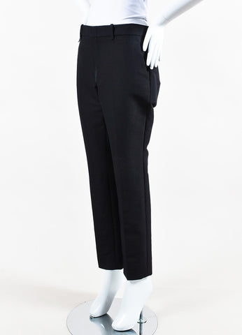 Black Gucci Cotton Straight Leg Crop Trouser Pants Front