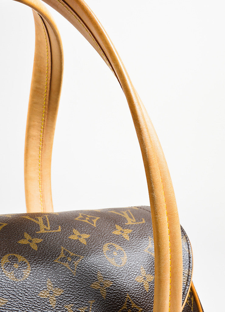 "Brown and Tan Louis Vuitton Coated Canvas Monogram ""Beverly GM"" Satchel Bag Detail 2"