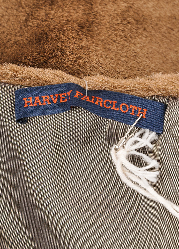 Harvey Faircloth New With Tags Brown Faux Fur Scarf Brand