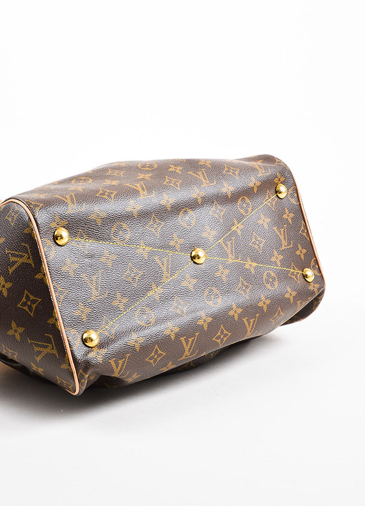 "Louis Vuitton Brown Monogram Canvas Leather Trim ""Tivoli GM"" Bag Detail"