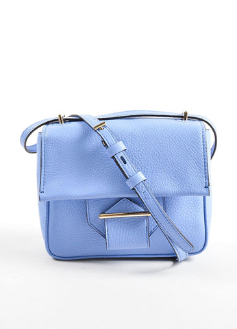 Reed Krakoff Light Blue Leather Mini Standard Cross Body Bag Frontview