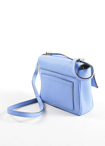 Reed Krakoff Light Blue Leather Mini Standard Cross Body Bag Backview