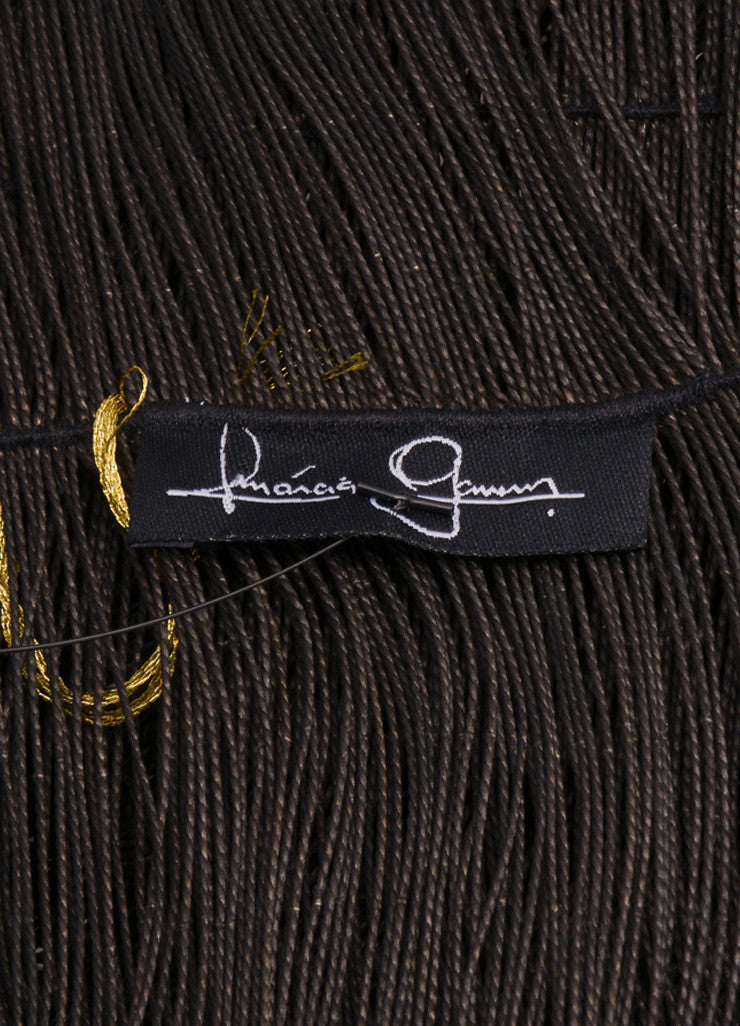 Marcia Ganem New With Tags Brown Woven Cord Shawl Brand