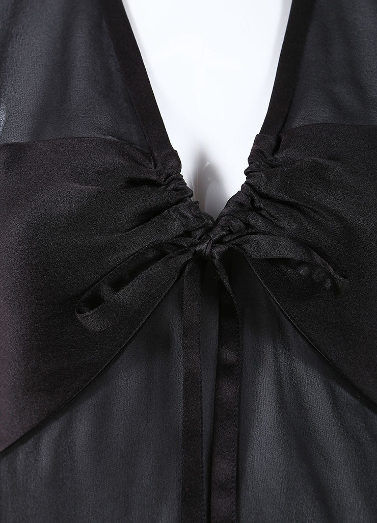 Chanel Black Silk Sleeveless Open Back Top Detail