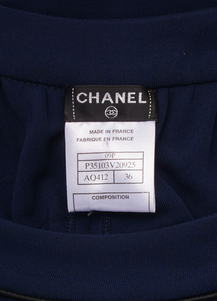 Chanel Navy and Black Sleeveless Cape Dress Brand