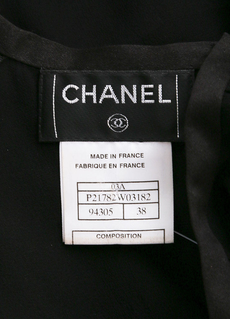 Chanel Black Silk Sleeveless Open Back Top Brand