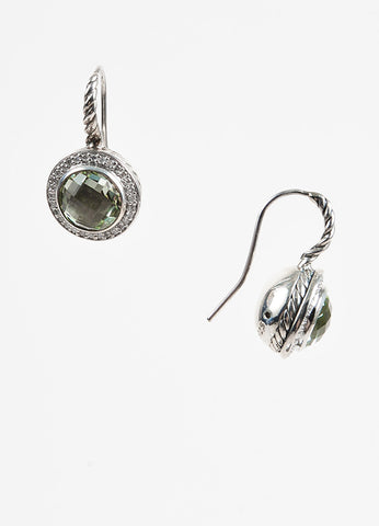 David Yurman Sterling Silver Prasiolite Diamond Color Classics Earring Side