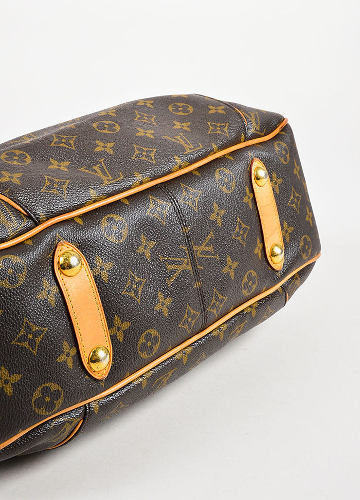 louis vuitton brown coated monogram canvas galliera pm shoulder bag luxury garage sale. Black Bedroom Furniture Sets. Home Design Ideas