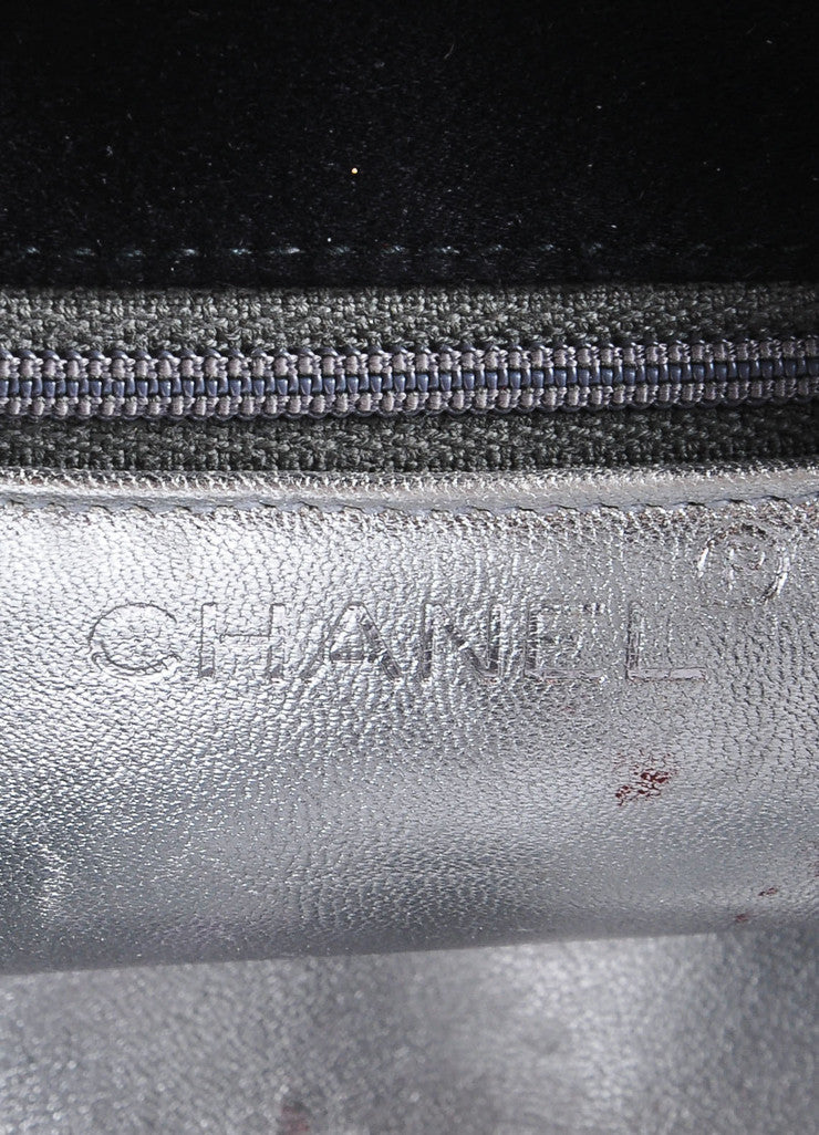 Chanel Black Satin Camellia Chain Strap Mini Bag Brand