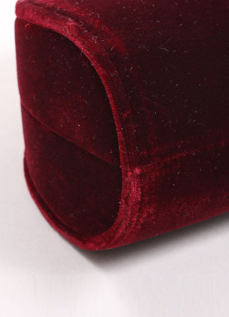 Carla Marchi Red Velvet and Rhinestone Clutch Detail 1